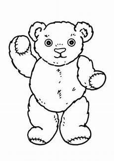 Ausmalbilder Weihnachten Teddy Ausmalbilder Winkender Teddy Spielsachen Malvorlagen