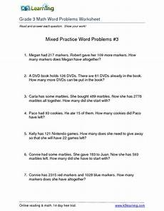 3rd grade math word problems worksheets collection lesson planet