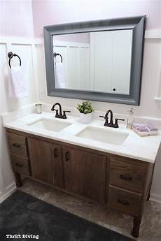 bathroom vanity makeover how to build a 60 quot diy bathroom vanity from scratch