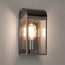 astro newbury polished nickel outdoor wall light 1339002