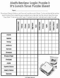 5th grade math review logic puzzle end of the year activity by 4 gains