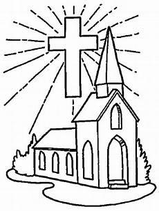 Gambar Mewarnai Gereja Untuk Sekolah Minggu