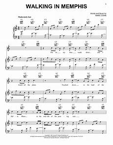 walking in memphis sheet music by marc cohn piano vocal guitar right hand melody 20887