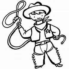 kostenlose malvorlage cowboys indianer kleiner cowboy