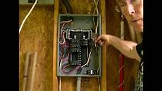 how to add a circuit to a load center breaker box youtube