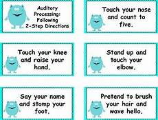 multi step directions worksheets 11737 auditory processing following 2 step directions cards by klever kiddos