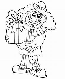 Malvorlage Clown Zum Ausdrucken Kostenlose Malvorlage Geburtstag Clown Mit