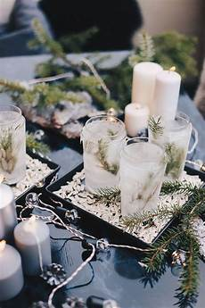 Winter Diy Eis Teelichter Terrasse Do It Yourself Idee