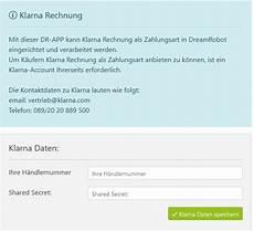 klarna kauf auf rechnung klarna rechnungskauf einrichten dreamrobot wiki