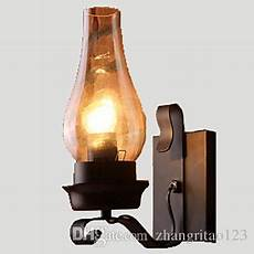 2018 nordic rustic retro glass wall light fixtures bedroom bedside wall sconce antique