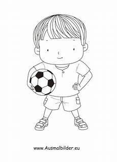Ausmalbilder Jungs Fussball Ausmalbilder Junge Mit Fussball Kinder Malvorlagen