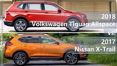 2018 Volkswagen Tiguan Allspace Vs 2017 Nissan X Trail