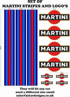 Le Mans Martini Racing Style Stripe And Logo Set Sticker