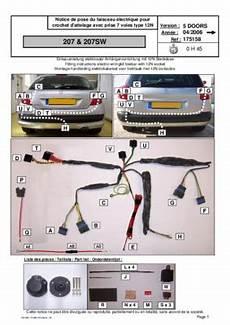 montage attelage 207 montage attelage 207sw pdf notice manuel d utilisation