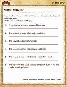 science quiz worksheets 12363 science vocab quiz 5th grade science printables