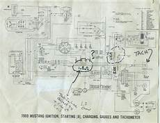 Dash Wiring Diagram For 1968 Mustang by 1968 Mustang Wiring Diagrams With Tach Help Ford