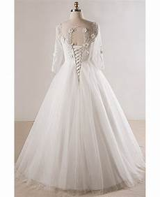 modest wedding gowns with 3 4 sleeves plus size lace 3 4 sleeves floor length modest wedding