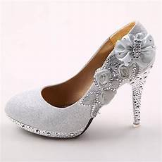 White Wedding Shoes 2 Inch Heel