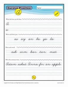 cursive writing worksheets for beginners 22091 cursive letters a z free printable worksheets k12reader