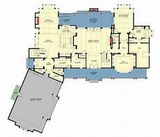 5 bedroom 2 story grand craftsman manor floor plan