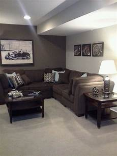 basement for our room in the basement basement colors brown living room decor