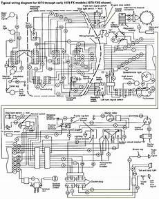 harley 7 pin wiring diagram 1975 1978 harley davidson fx fxe wiring diagram harley davidson