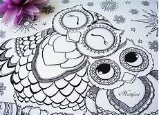 Ausmalbilder Muster Eule Owl Colouring Pages And Printable Card 1 Ted S