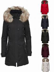 only damen winter mantel onliris parka jacke fellkapuze