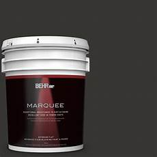 behr marquee 5 gal black matte exterior paint and primer in one 445305 the home depot
