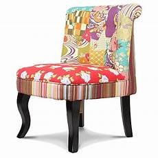 fauteuil crapaud tissu patchwork gipsy