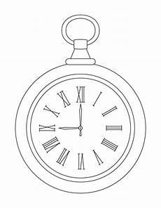 Pocket Clock Coloring Pages Free Pocket Clock