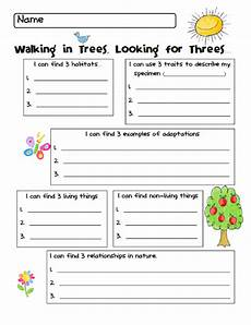 nature printable worksheets for preschool 15119 printable nature walk worksheet free kindergarten science