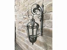Style Ancienne Grande Lanterne Electrique Murale Fer D