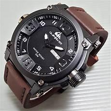 jual jam tangan merk quicksilver dark brown untuk pria sport casual kulit rantai ori original kw