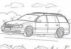 Malvorlagen Auto Mit Wohnwagen Opel Omega Caravan Coloring Page Free Printable Coloring