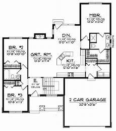 plan 89930ah 3 bedroom craftsman ranch craftsman ranch craftsman style house plan 3 beds 2 baths 1509 sq ft