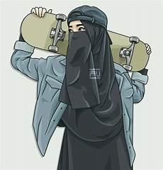 60 Gambar Kartun Muslimah Lucu Cantik Terbaru