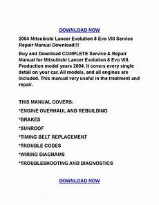 2004 mitsubishi lancer evolution 8 evo viii service repair manual download by rocky issuu