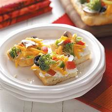 vegetable appetizer pizza recipe taste of home