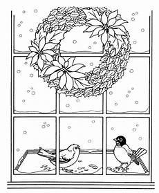 malvorlagen schnee vor dem fenster