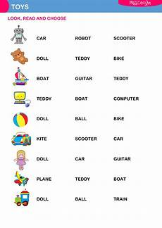worksheets colors and toys 12707 toys choose interactive worksheet