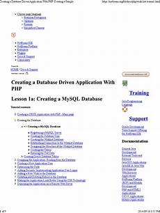 creating a database driven application with php net
