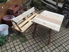 Palettenbank Tisch F 252 R Kinder Garten Kindersitzgruppe
