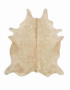 Kuhfell Teppich Beige - specialty beige and gold cowhide rug