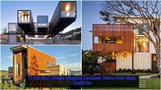 Artistic Cargo Shipping Container House Design Colorful Accents Artworks