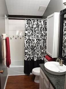 bathroom shower curtains ideas black and white shower curtains hgtv