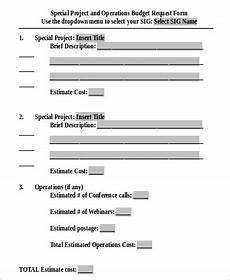 sle project request form 9 exles in word pdf