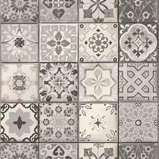 papier peint carreaux de ciment 4 murs vinyl effet papier peint carreau ciment gris 235 g m 178