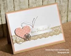 Hochzeitskarten Selber Machen - karos kreativ kram karten basteln hochzeit karte
