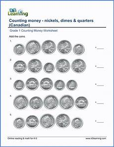 money worksheets grade 1 2036 grade 1 counting money worksheets nickels dimes and quarters cdn k5 learning